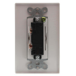 EcoSwitch Single Function On/Off Fan<br>Wall Switch (White) Product Image