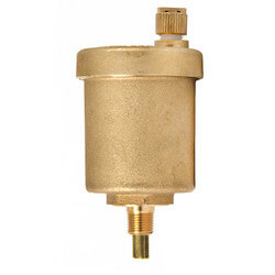 "1/8"" NPT Goldtop Universal Air Vent - Heating/Cooling Systems"
