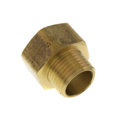 """3/4"""" FHT x 3/4"""" Male Pipe Brass Garden Hose Adapter (84GH) Product Image"""