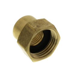 """3/4"""" FHT x 1/2"""" Female Pipe Brass Garden Hose Adapter (82GH) Product Image"""
