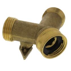 "3/4"" MHT x 3/4"" FHT Brass Garden Hose Wye w/ Shut Off Product Image"