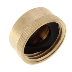 "3/4"" Brass Garden Hose Cap w/ Washer Product Image"