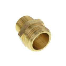 "3/4"" x 1/2"" Garden Hose Adapter, (Brass Male Hose to Male Pipe) Product Image"