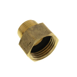 """3/4"""" x 1/2"""" Garden Hose Adapter, (Brass Female Hose to Male Pipe) Product Image"""