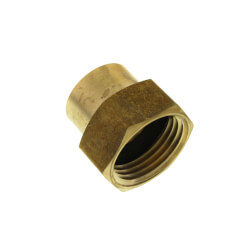 """3/4"""" x 1/2"""" Garden Hose Adapter, (Brass Female Hose to Female Pipe) Product Image"""