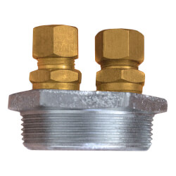 "3/8"" Galvanized Bushing <br>w/ Compression Fittings Product Image"