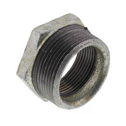 "1-1/2"" x 1-1/4"" Galvanized Malleable Hex Bushing Product Image"
