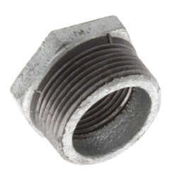 "1-1/4"" x 1"" Galvanized Malleable Hex Bushing Product Image"