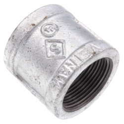 """1-1/4"""" Galvanized Malleable Banded Coupling Product Image"""