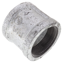 """2"""" Galvanized Malleable Banded Coupling Product Image"""
