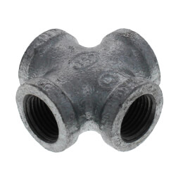 """1/2"""" Galvanized Malleable Cross Product Image"""