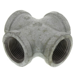 """3/4"""" Galvanized Malleable Cross Product Image"""