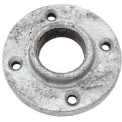 "1-1/2"" Galvanized Floor Flange w/ Holes Product Image"