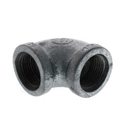 """3/4"""" Galvanized Malleable 90° Elbow Product Image"""
