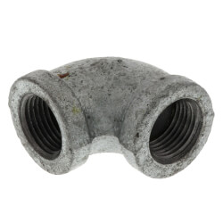 """3/8"""" Galvanized Malleable 90° Elbow Product Image"""