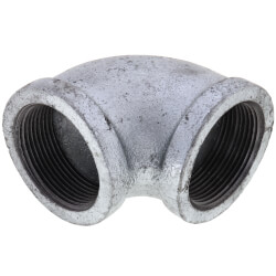 """1-1/2"""" Galvanized Malleable 90° Elbow Product Image"""