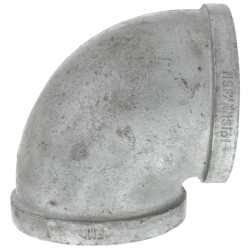 """4"""" Galvanized Malleable 90° Elbow Product Image"""