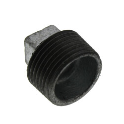 "3/4"" Galvanized Malleable Square Head Plug Product Image"