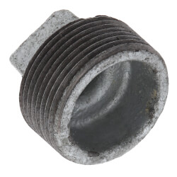 "1-1/4"" Galvanized Malleable Square Head Plug Product Image"