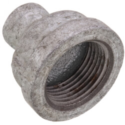 """1"""" x 1/4"""" Galvanized Malleable Reducing Couplings Product Image"""