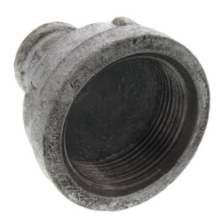 """1-1/2"""" x 3/8"""" Galvanized Malleable Reducing Couplings Product Image"""