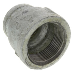 """1-1/2"""" x 1"""" Galvanized Malleable Reducing Couplings Product Image"""