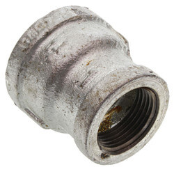 """1-1/4"""" x 1"""" Galvanized Malleable Reducing Couplings Product Image"""