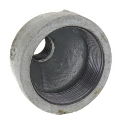 """2"""" x 3/8"""" Galvanized Malleable Reducing Couplings Product Image"""
