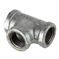 "1/2"" Galvanized Malleable Tee Product Image"