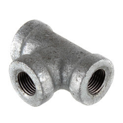 "1/8"" Galvanized Malleable Tee Product Image"