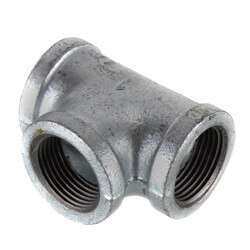 "1"" Galvanized Malleable Tee Product Image"