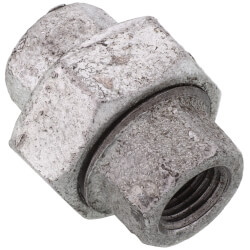 "3/8"" Galvanized Malleable Union Product Image"