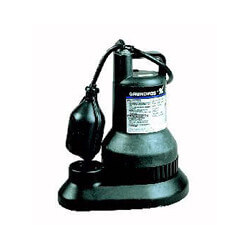 "SU25 Sump Pump - 1/4 HP, 8ft power cord, 3/16"" solids handling"