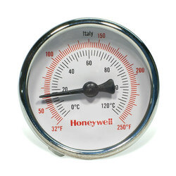 "1/2"" Sweat Connection Thermometer w/ 2"" Dial Size"