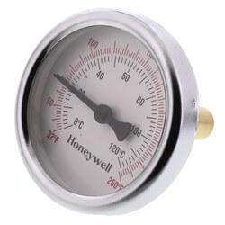 "1/2"" NPT Connection Thermometer w/ 2-1/2"" Dial Size"
