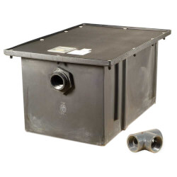 100# Polyethylene Grease Trap, 50gpm