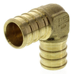 "5/8"" PEX x 5/8"" PEX Brass Elbow (Lead Free) Product Image"