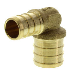 "1/2"" PEX x 3/4"" PEX Brass Elbow (Lead Free) Product Image"