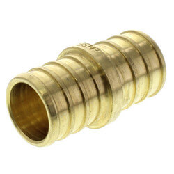 "3/4"" PEX x 3/4"" PEX Brass Coupling (Lead Free)"