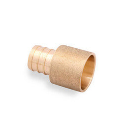 "1/2"" PEX x 1/2"" Copper Pipe Brass Adapter"