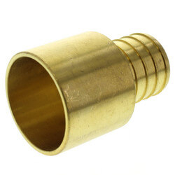 "1"" PEX x 1"" Copper Pipe Brass Adapter (Lead Free) Product Image"