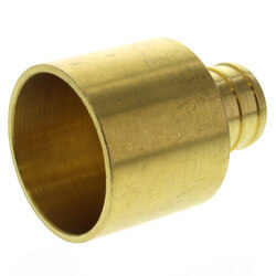 "3/4"" PEX x 1"" Copper<br>Pipe Brass Adapter <br>(Lead Free) Product Image"