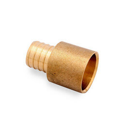 "3/8"" PEX x 1/2"" Copper Pipe Brass Adapter"