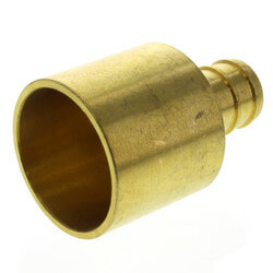 "1/2"" PEX x 3/4"" Copper Pipe Brass Adapter<br>(Lead Free) Product Image"
