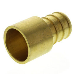 "5/8"" PEX x 1/2"" Copper Pipe Brass Adapter (Lead Free) Product Image"
