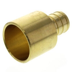 "5/8"" PEX x 3/4"" Copper Pipe Brass Adapter<br>(Lead Free) Product Image"