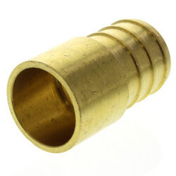 "3/4"" PEX x 1/2"" Copper Pipe Brass Adapter (Lead Free) Product Image"