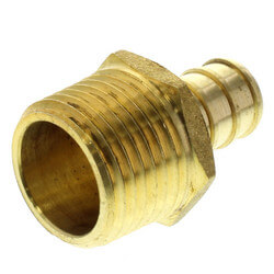 """1/2"""" PEX x 1/2"""" NPT Brass Male Adapter (Lead Free) Product Image"""
