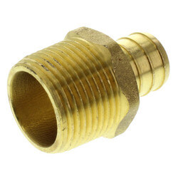 "3/4"" PEX x 3/4"" NPT Brass Male Adapter (Lead Free)"