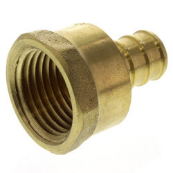 "1/2"" PEX x 1/2"" NPT Brass Female Adapter (Lead Free)"